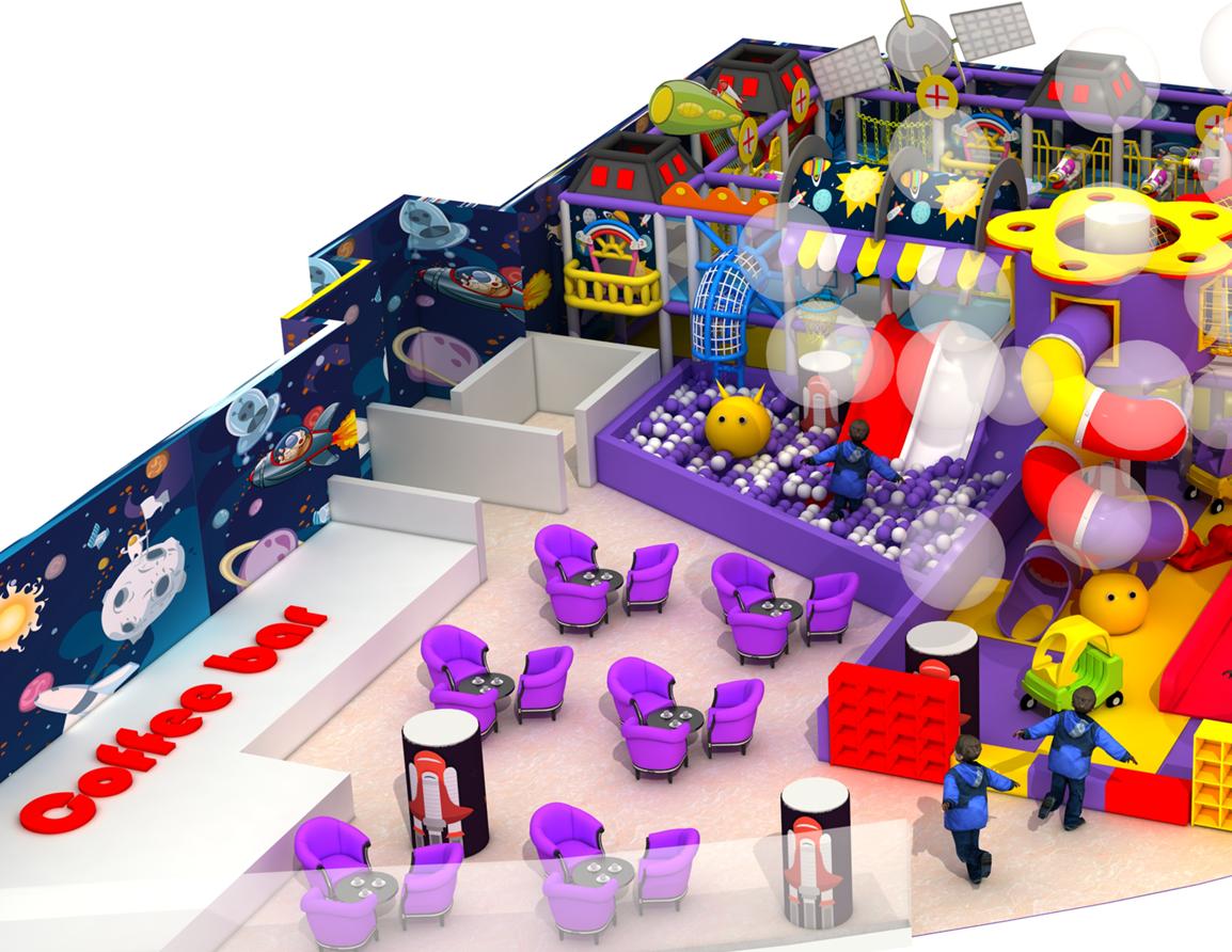 淘气堡,宇宙天空主题淘气堡儿童乐园