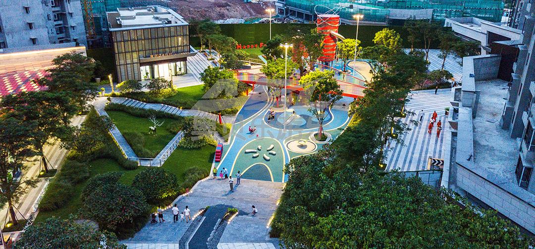 东莞万科中天城市hua园景观设计-户外游乐场规划